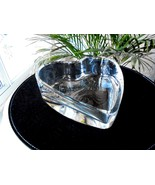 "Badash Heavy Crystal 8"" Heart Shape Candy Bowl Nut Bowl - $11.88"