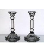 Vintage Crystal Column Candle Sticks Fancy  5.25 x 3 - $12.99