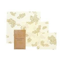 Bee's Wrap Set of 3 Assorted Size Wraps, Beige  - $19.00