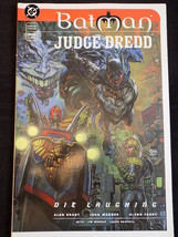 BATMAN JUDGE DREDD COMIC BOOK GRAPHIC NOVEL Book 1 of 2 Die Laughing 1998 - $3.95