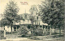 The  Park Hotel Canton Bradford County Pennsylvania Vintage Post Card - $5.00