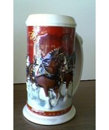 Beer Stein Beer Mug 25th Anniversary Budweiser Beer Clydesdales Christmas Mug NB - $29.99