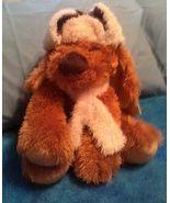 Plush Hunting Dog  Hugfun Fluffy Furry Stuffed Animal Vintage 2006 Plush... - $34.99