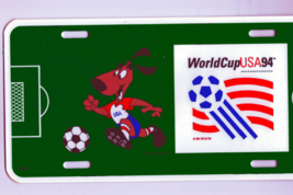 Soccer 1994 World Cup USA Souvenir License Plate and Pin Back Button Col... - $32.99