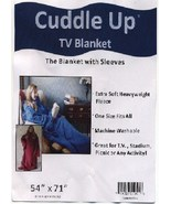 Cuddle Up TV  Fleece Blanket with sleeves NEW - $15.99