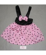 Pink and Black Taffeta Size child's 4T  Party D... - $12.99