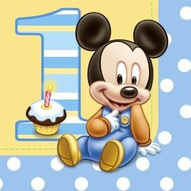 Mickey's 1st Birthday Lunch Napkins (16 count) - $9.85
