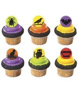 Halloween PUMPKIN GHOST WITCH CupCake TOPPER Party Birthday Kit Treats L... - $6.88