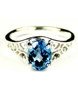 SR005, Swiss Blue Topaz, 925 Sterling Silver Ring - $70.36