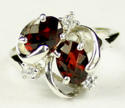 SR016, Mozambique Garnet, 925 Sterling Silver Ring - £47.67 GBP