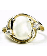 R021, Mother of Pearl, 10KY Gold Ring - $351.10