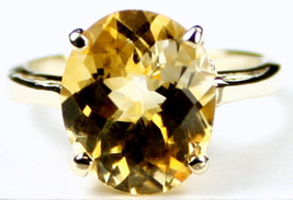 R055, 12x10mm Citrine, 10KY Gold Ring - $373.63