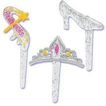 Princess Party Slipper Crown Wand (12) Cupcake Cake Pops Topper Decor Pi... - $5.89