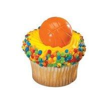36 ~ Basketball 2D Rings ~ Designer Cake/Cupcake Topper ~ New!!!!! - $12.72