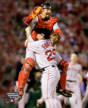 2004 Series Celebration Varitek Foulke Final Out Boston Red Sox 11X14 Photo - $15.95