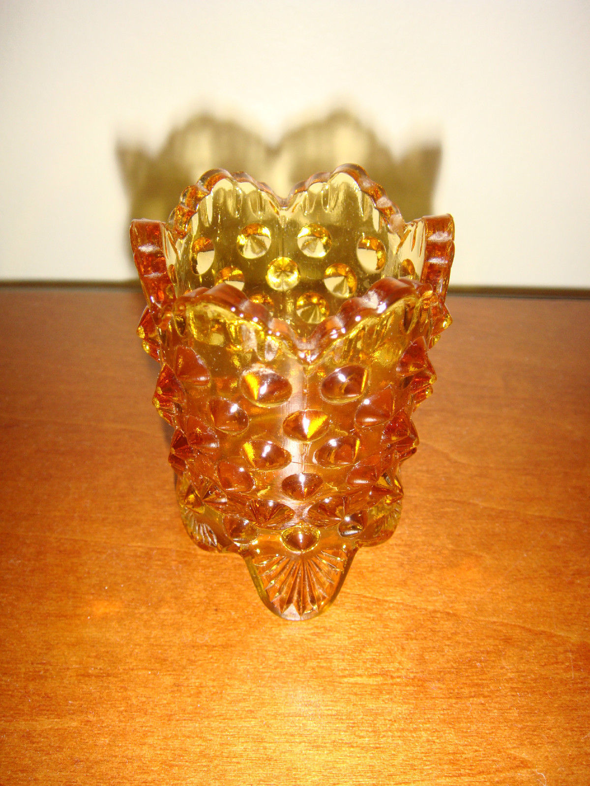 Fenton Colonial Amber Toothpick Holder, Pre-Logo - $8.99