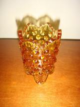 Fenton Colonial Amber Toothpick Holder, Pre-Logo - $8.99