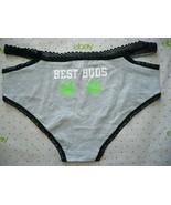 Rue 21 Women's Bikini Panties MEDIUM Weed Best Buds Gray Strappy Sides - $10.88