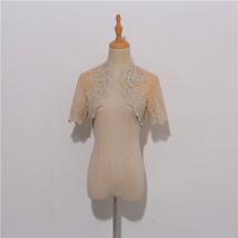 Long Sleeve Wedding Lace Cover Ups Retro Style Lace Bridal Boleros, white, plus image 10