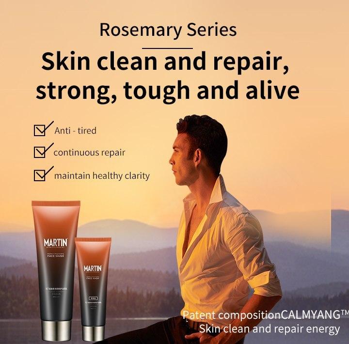 MARTIN Men's Rosemary Brighten and Regenerating Face Wash