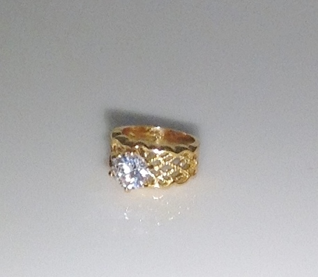 Engagement Ring Solitaire with Filigree Band Size 9