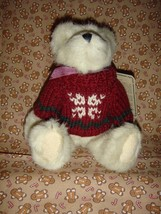 Boyds Bears Rupert Plush Bear With Snowflake Sweater For Christmas, NWT - $10.79