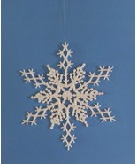 "6 pc. AURORA BOREALIS 6.5"" Glittered Plastic Snowflake Ornaments - $7.00"