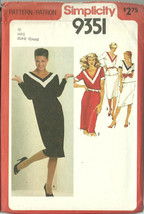 Simplicity Sewing Pattern 9351 Misses Womens Dress Skirt Top Size 12 New Uncut - $9.98