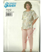 Simplicity Sewing Pattern 7912 718 Super Saver Misses Top Pants 12 14 16... - $9.98