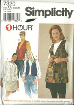 Simplicity Sewing Pattern 7320 Misses Womens Vest Size XS S M New Uncut - $8.98