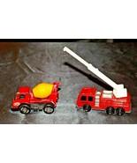 Tonka Die-cast Firetruck and Cement Truck AA19-1514 Vintagerr - $49.95