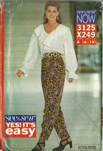See And Sew Sewing Pattern 3125 X249 Misses Top Blouse Pants 6 8 10 12 1... - $9.98