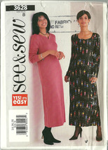 See And Sew Sewing Pattern 3628 Misses Womens Dress Size 14 16 18 New Uncut - $9.98