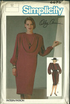 Simplicity Sewing Pattern 6675 Misses Womens Dress Detachable Drape Sz 1... - $9.99