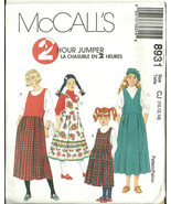 McCall's Sewing Pattern 8931 Girls 2 Hour Jumper Size 10 12 14 New Uncut - $9.98