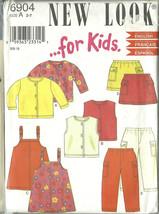 New Look Sewing Pattern 6904 Girls Jacket Top Skirt Jumper Pants 2 3 4 5... - $9.98