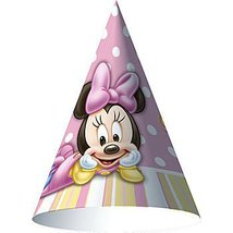 Minnie Mouse 1st Birthday Hats - Minnie's 1st Birthday Cone Hats - 8 Count - $10.84