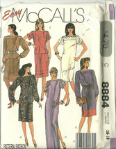 McCall's Sewing Pattern 8884 Misses Womens Dres... - $12.98