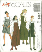 McCall's Sewing Pattern 9596 Misses Womens Jumper in 2 Lengths Size 4 6 ... - $9.98
