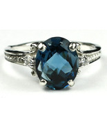 SR136, London Blue Topaz, 925 Sterling Silver Ring - $121.25