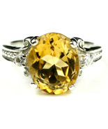 SR136, Citrine, 925 Sterling Silver Ring - $70.43