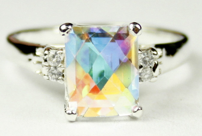 Primary image for SR221, Mercury Mist Topaz , 925 Sterling Silver Ring