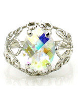 SR162, Mercury Mist Topaz, 925 Sterling Silver Ring - $82.23