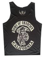 Men Tank top Moto Gang  Rock Heavy metal California Retro Soft Thin Cotton L - $12.86