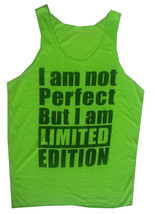 xl Men Tank Top I M NOT PERFECT BUT I M LIMITED EDITION FUNNY HUMOR THIN... - €10,38 EUR