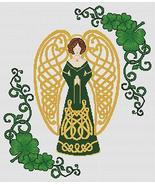 Shamrock Celtic Angel cross stitch card chart Artist's Alley  - $10.80