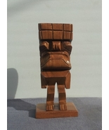 Large Vintage Hand Carved Tiki Statue - From One Piece of Wood - Very Un... - $115.00