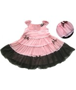 NEW Biscotti Dipped in Chocolate Tiered Dress S... - £23.35 GBP