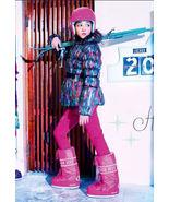NWT Catimini Girls Feather Print Puffer Jacket ... - £38.93 GBP