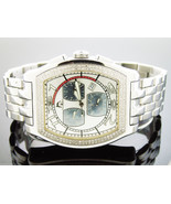 Men's Techno Master 1.00CT genuine Diamonds stainless steel Watch TM-2069 - $494.99